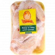 Набор из мяса цыплят-бройлеров «Ганна» замороженный, 1 кг., фасовка 0.7-1.2 кг