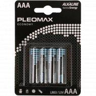Элемент питания «PLEOMAX» LR03-4BL Economy.