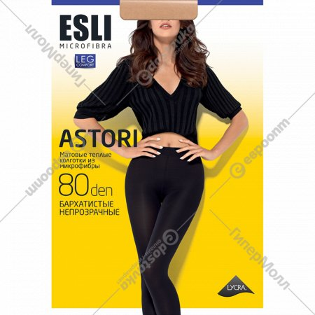Колготки женские «Esli» slim, 80 den, nero, 4.