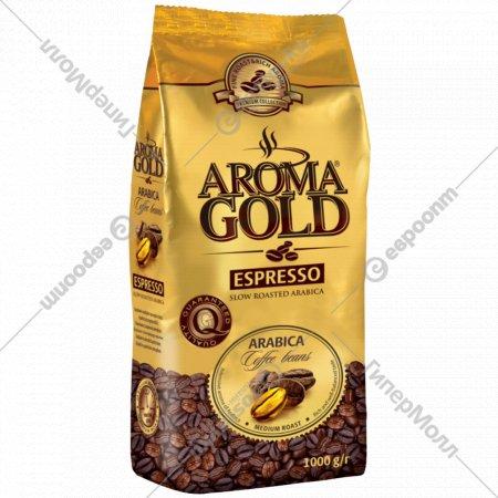 Кофе «Aroma gold» espresso в зернах, 1 кг.