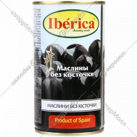 Маслины черные «Iberica» без косточки, 370 мл.
