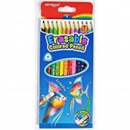 Карандаши цветные «Keyroad» с ластиком, 12 цветов.
