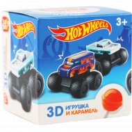 Карамель леденцовая «Lolly Box» Hot Wheels, клубника, 11.4 г.