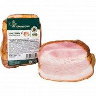 Продукт из свинины, копчено-вареный «Грудинка по-домашнему», 1 кг., фасовка 0.5-0.7 кг