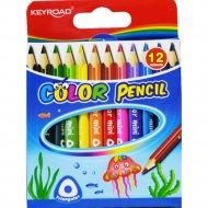 Карандаши цветные «Keyroad» мини, 12 цветов.