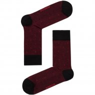 Носки мужские «Dw Classic» черно-бордовые, размер 29.