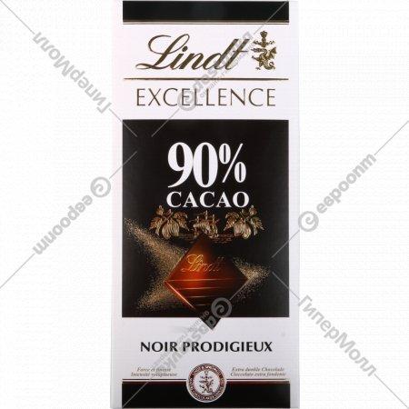 Шоколад горький «Lindt Exellence» 90% какао, 100 г.