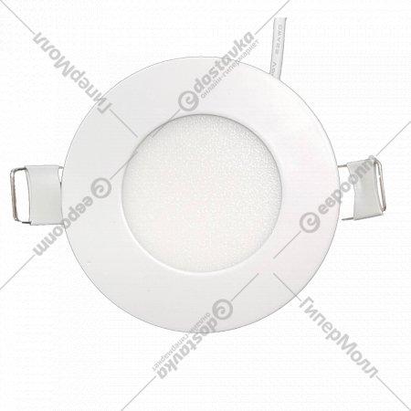 Светильник «TruEnergy» светодиодный ультратонкий круг, 3W, 3000K, IP20.