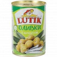 Оливки с анчоусом «Lutik» консервированные, 280 г.