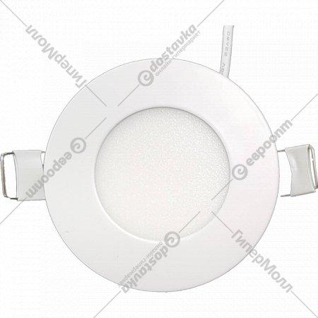 Светильник «TruEnergy» светодиодный ультратонкий круг, 3W, 4000K, IP20.