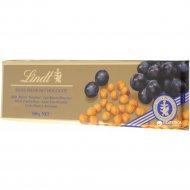 Шоколад молочный «Lindt» с цельным фундуком, миндалем и изюмом, 300 г.