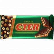 Шоколад молочный «Степ» с лесными орехами, 100 г.