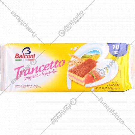Пирожное «Balconi» с начинкой из клубники с йогуртом 10x28 г.