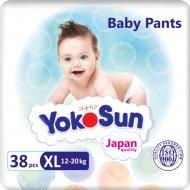Подгузники-трусики «YokoSun» Премиум, 12-20 кг, размер XL, 38 шт.