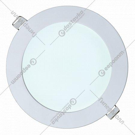 Светильник «TruEnergy» светодиодный ультратонкий круг, 12W, 6000K, IP20.