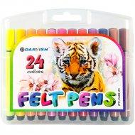 Фломастеры «Darvish» 24 цвета, в пенале, DV-3488-24
