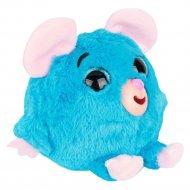 Дразнюка-Zoo «1Toy» плюшевая голубая мышка, Т10350.