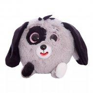 Дразнюка-Zoo «1Toy» плюшевая серебристая собачка, Т10352.
