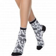 Носки женские хлопковые «Ce «Classic»» светло-серые, размер 25.