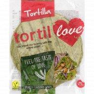 Тортилья «Tortillove» пшеничные со шпинатом, 4 шт, 240 г.