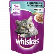 Корм для кошек «Whiskas» желе кролик с овощами 85 г.