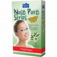 Полоски для носа «Purederm» с зеленым чаем, 6 шт х 2 г