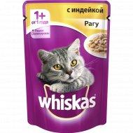 Корм для кошек «Whiskas» рагу с индейкой, 85 г.