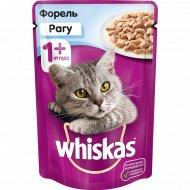 Корм для кошек «Whiskas» рагу с форелью, 85 г.
