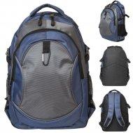 Рюкзак городской, синий с черным.