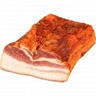 Продукт из свинины «Грудинка Рождественская» сырокопченый, 1 кг., фасовка 0.6-0.8 кг