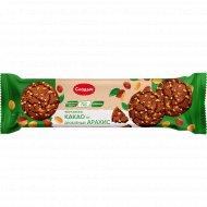 Печенье сдобное «Cacao & Peanuts» какао и дробленый арахис, 145 г.