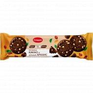 Печенье «Dark Choco & Peanuts» какао и цельный арахис, 145 г.