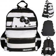 Рюкзак «Hello Kitty» черно-белая полоска.