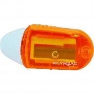 Точилка одинарная «Keyroad» с ластиком.
