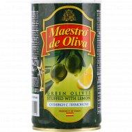 Оливки «Maestro de Oliva» с лимоном, 350 г.
