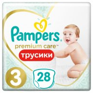 Трусики-подгузники «Pampers» Premium Care Midi 6-11 кг, 28 шт.