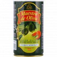 Оливки «Maestro de Oliva» с креветкой, 350 г.