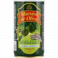 Оливки «Maestro de Oliva» с анчоусом, 350 г.