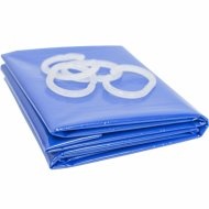 Шторка для ванны «Comfort Alumin» голубая, 180x180 см