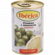 Оливки зеленые «Iberica» с лимоном, 280 г.