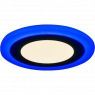 Светильник «TruEnergy» с декоративной подсветкой, круг, 6+3W, IP 20.
