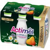 Продукт кисломолочный «Actimel» груша и алтайские травы, 100 г х 6 шт.