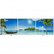 Экран под ванну «Comfort Alumin» Пляж 3D, 1.5x0.5 м