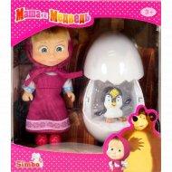 Кукла «Маша» с пингвиненком в яйце, 12 см.