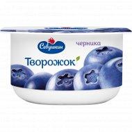 Паста творожная «Савушкин» черника 3.5 %, 120 г.