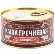 Каша гречневая с говядиной, 325 г.