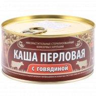 Консервы с крупами «Каша перловая с говядиной» 325 г.