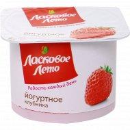 Продукт йогуртный «Ласковое лето» клубника 2 %, 120 г.