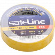 Изолента «SafeLine» желтая, 15 мм/10 м.