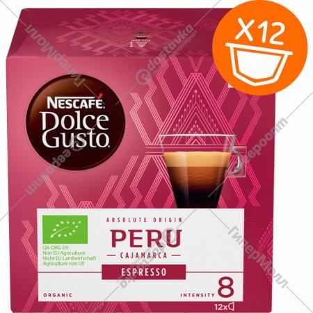 Кофе натуральный жареный молотый «NESCAFE Dolce Gusto Эспрессо Перу» 84 г.